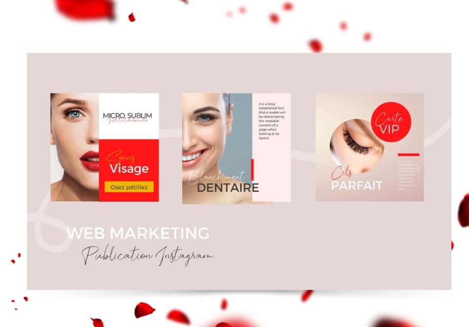 Création visuels instagram pour institut de beauté